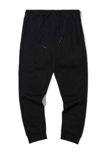 Fivecm black Dipped drawstring joggers 0A8E3AADDA01E5GS_1