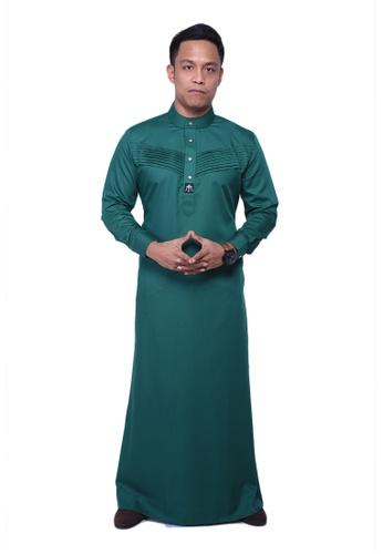 Maribeli Butik green MB Man Jubah Qhalees 02 Emerald Green MA905AA22LUVMY_1