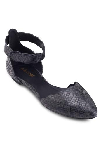 暗紋salon esprit尖頭平底涼鞋, 女鞋, 鞋