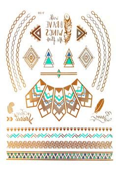 Wakiki Metallic Tattoo