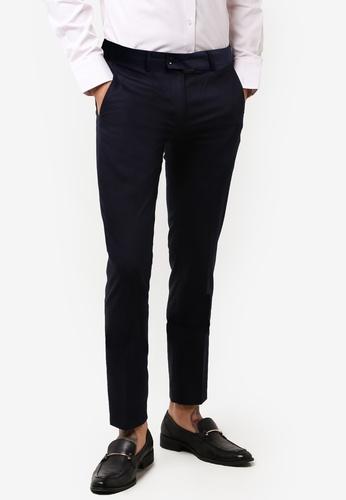 ZALORA 海軍藍色 Slim Fit Formal Trousers B4EC9ZZ1FCF250GS_1