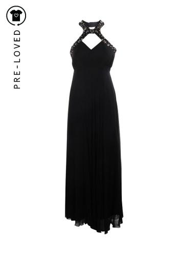 Biyan black Pre-Loved biyan Beads Halter Silk Gown 9B089AACD318F0GS_1