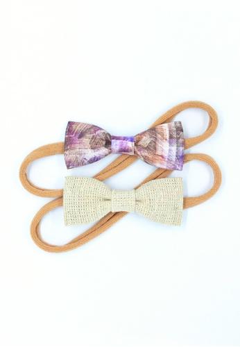 A l i t t l e b o w purple and beige Zariya Baby Headband Set 5626AKC473CC0BGS_1