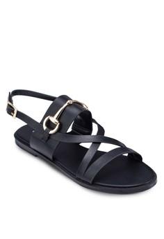 Metal Embellished Slingback Sandals