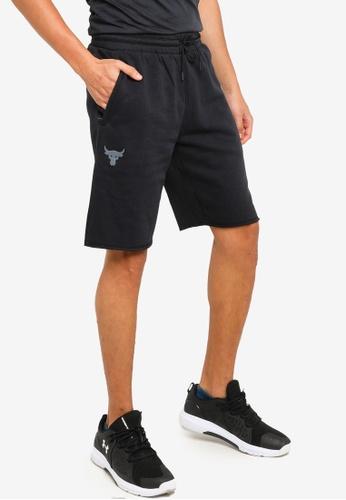 Under Armour black Project Rock Fleece Shorts 820F7AA2651602GS_1