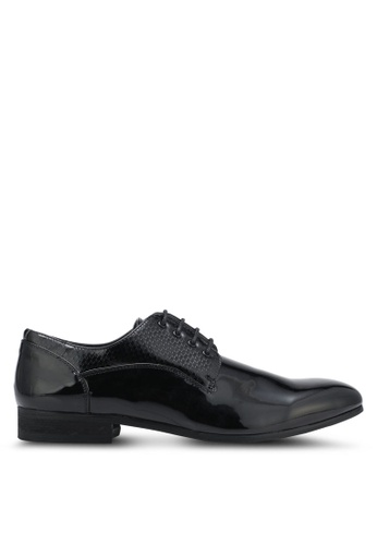 River Island black Patent Oxfords RI009SH0SF7FMY_1