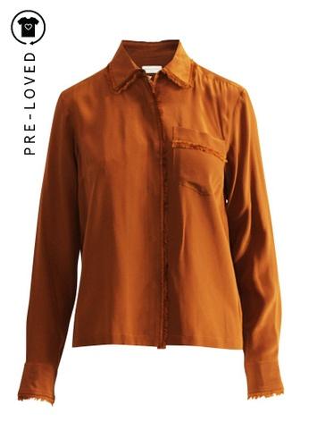 Dries Van Noten brown Pre-Loved dries van noten Frayed Camel Shirt 8F3A4AAA7D3716GS_1