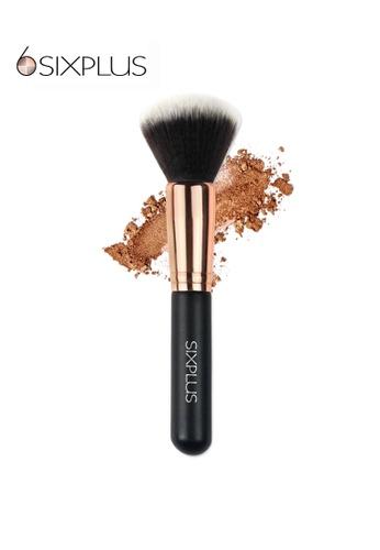 SIXPLUS black and brown and gold SIXPLUS Powder Brush F01 03C97BEBDADDD3GS_1