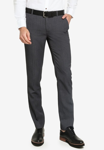 G2000 grey Slim Fit Twill Pants AB583AAE019FB9GS_1