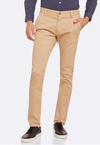 Oxford brown Stretch Skinny Fit Chinos EDEACAACA65A5DGS_1