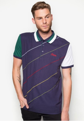 刺繡斜條紋POesprit holdings limitedLO衫, 服飾, Polo衫