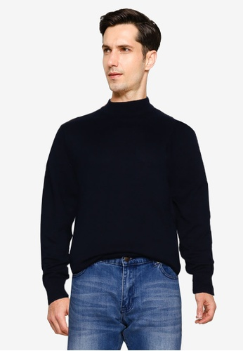 Brave Soul navy Tubular Rib Turtle Neck Jumper C5818AA9425698GS_1