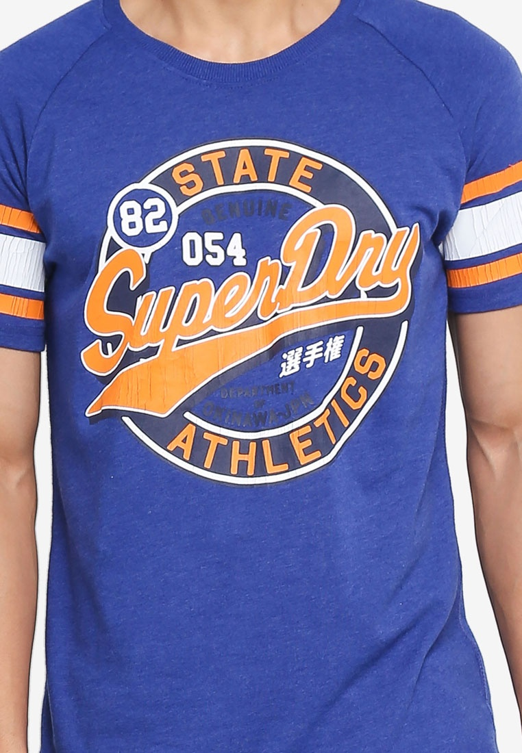 Superdry Major 054 Tee League Native Blue x8tFHtqw