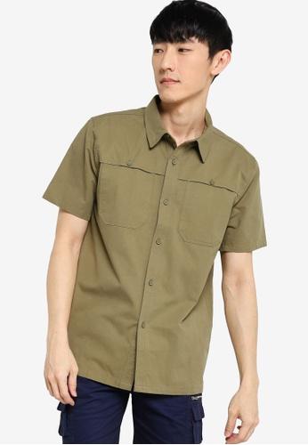 ZALORA BASICS green Boxy Fit Utility Shirt 1A339AA6B5DD8BGS_1