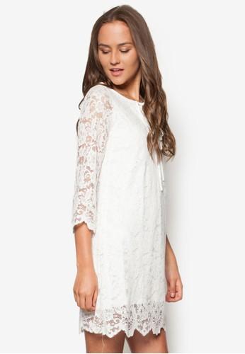 Marion esprit暢貨中心蕾絲長袖洋裝, 服飾, 洋裝