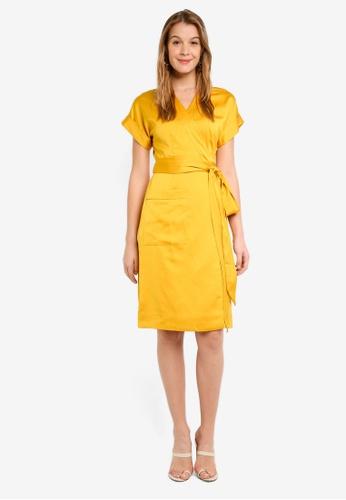 c20d7dcc02 Shop J.Crew Satin-Back Crepe Short Sleeve Wrap Dress Online on ZALORA  Philippines