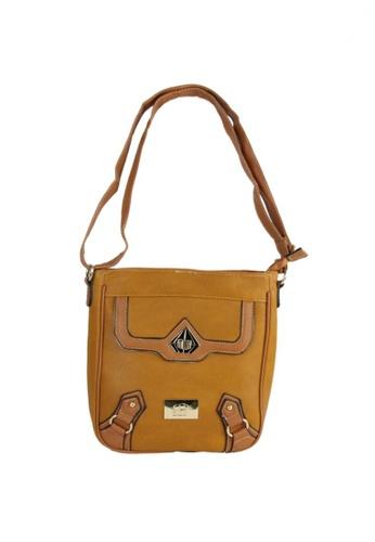 DNJ orange Casual Styling Sling Bag DN487AC20KITPH_1