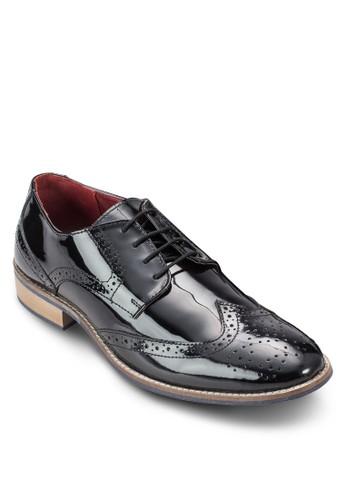 沖孔雕花漆皮皮鞋, 鞋, esprit hk store鞋