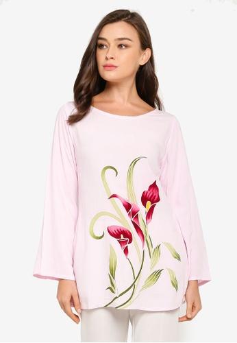 NOOR ARFA pink Blouse Catrina Calla Lily 6A342AA9858561GS_1
