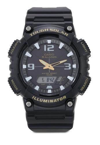 Casio black Casio AQ-S810W-1BVDF Watch 0906BAC9F663BAGS_1