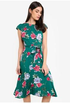 8cb28e9436a Dorothy Perkins green Petite Green Floral Dress 6C1F3AA42CCC69GS 1