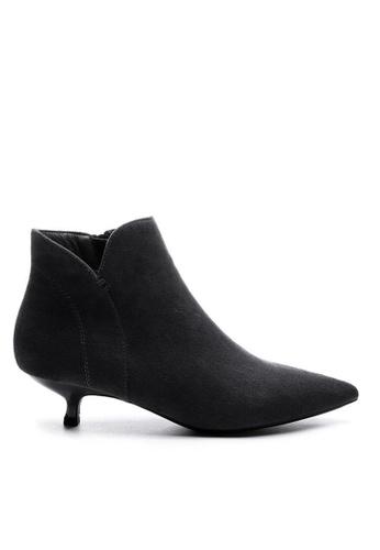 Twenty Eight Shoes black Synthetic Suede Ankle Boots 1592-1 158D2SH8E2A928GS_1