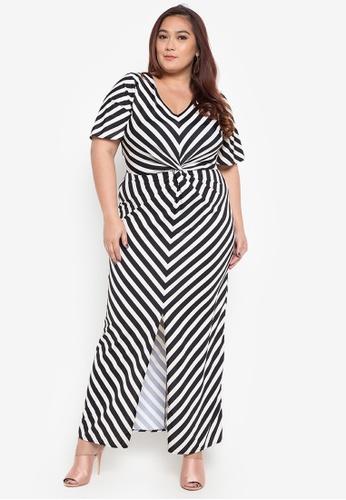 Daria black Ashley Maxi Plus Size Dress 79646AA3A0447EGS_1
