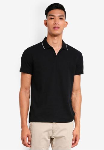 G2000 black Tipping Collar Polo 977AEAADA75046GS_1