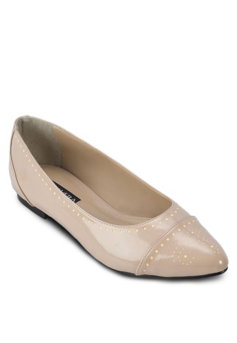 Pippa 雕zalora 泳衣花漆面平底鞋, 女鞋, 鞋