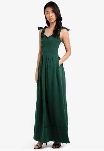 Megane green Red Romance Marguerite Pearl Embellished Long Dress ME617AA0SL9SMY_1