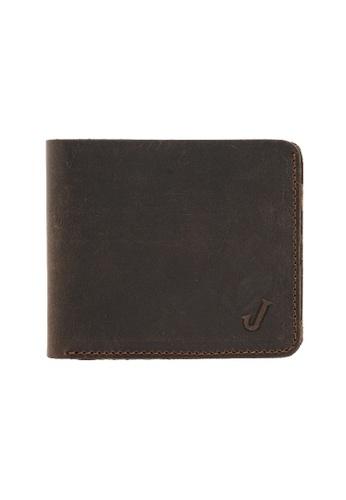 Jack Studio brown Jack Studio Full Leather Bifold Wallet For Men DF733AC2AA0268GS_1