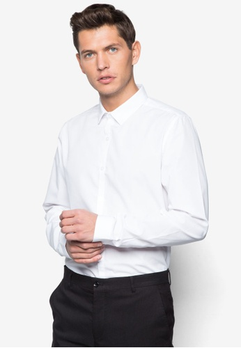 Topman 白色 White Long Sleeve Smart Shirt TO413AA30RMJMY_1