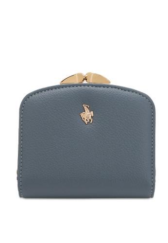 Swiss Polo blue Faux Leather Short Purse 8EF8FAC2F3722FGS_1