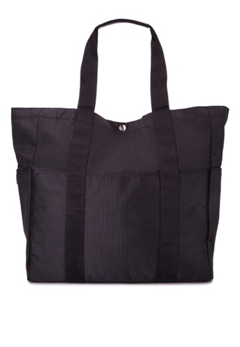 Taikan black Sherpa Tote Bag TA253AC0JOB7PH_1
