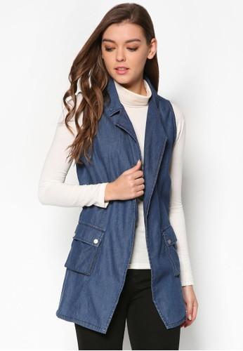 翻領丹寧無袖外套, 服esprit台北門市飾, 外套