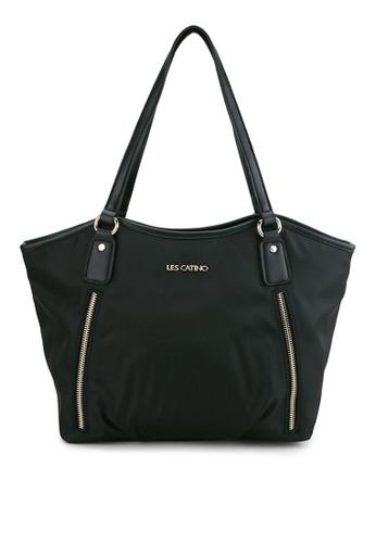 Les Catino black Tokyo Ikebukuro Zipped 20 Shoulder 413B0AC9EB8354GS_1