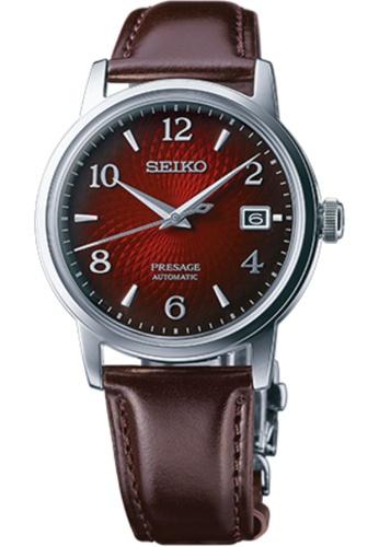 SEIKO brown Seiko Presage SRPE41J1 Silver and Brown Leather Watch 0743DAC638C8FCGS_1