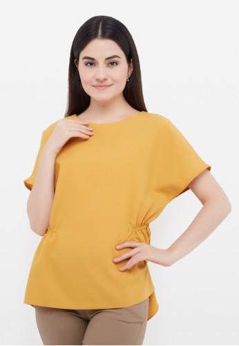 L'more yellow Rubber at the waist C07D4AA26DE8A8GS_1