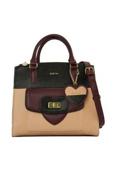 SEMBONIA  SEMBONIA Synthetic Leather Satchel Bag