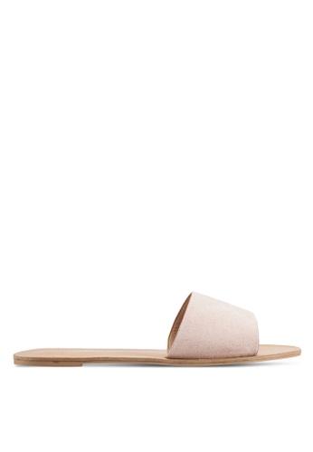 Billini pink and beige Crete Sandals BI606SH0RT2SMY_1