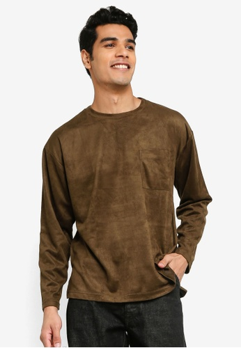 niko and ... brown Faux Suede Pocket Top 6175BAA48416B7GS_1