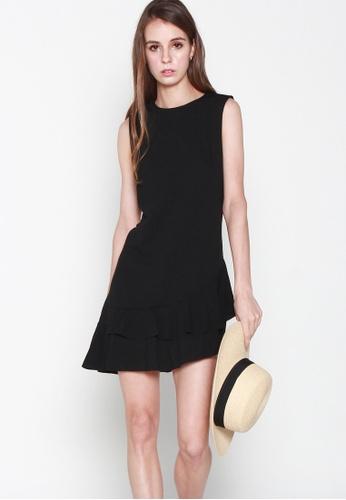 JOVET black Slanted Hem Dress CE980AA3EA2650GS_1