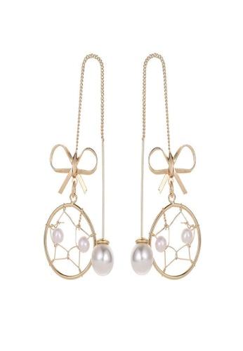 Sunnydaysweety gold Dreamcatcher Earrings K20050521 022EFAC8D54CBFGS_1