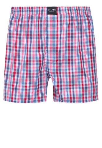 Walker Underwear red Checkered Shorts CE5F1US7775F52GS_1
