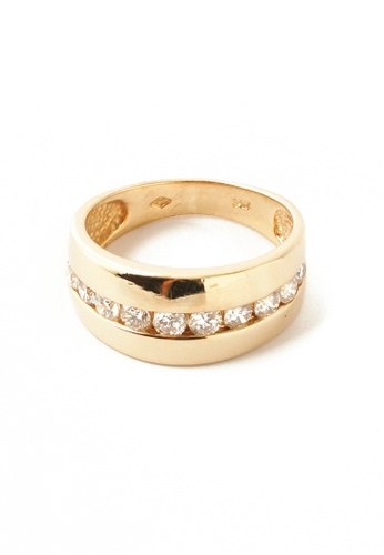 CEBUANA LHUILLIER JEWELRY gold 14 Karat Yellow Gold Ring With Diamonds 2E3D1AC01A1752GS_1