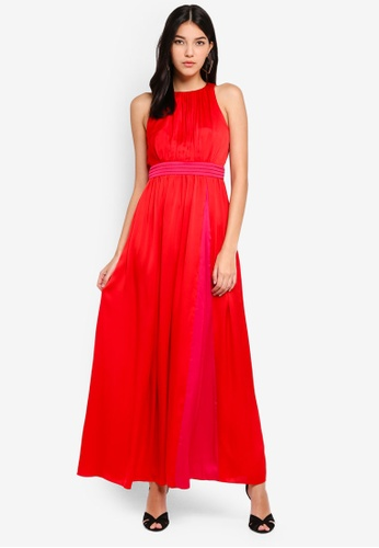 Little Mistress red Red Satin Dress DBB73AABDF073DGS_1
