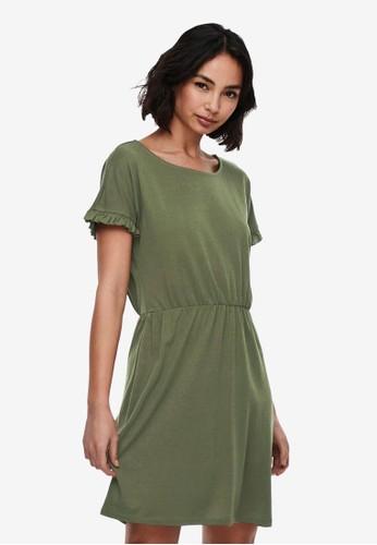JACQUELINE DE YONG green Karen Frosty Short Sleeve Dress 5ED18AAA279FFAGS_1