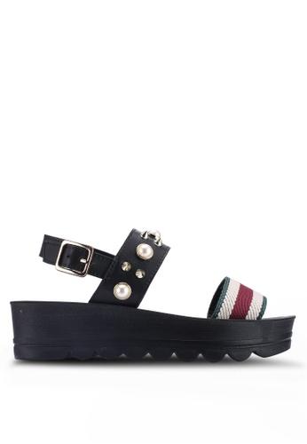 Noveni 黑色 鉚釘厚底楔型鞋 2E81CSHE156317GS_1