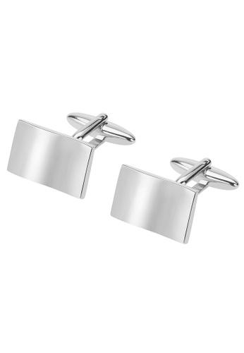 CUFF IT silver Silver Wave Shape Metal Cufflinks CU047AC29IFUHK_1