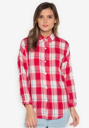 Chase Fashion red Plaid Flannel Shirt CH547US0JPIDPH_1